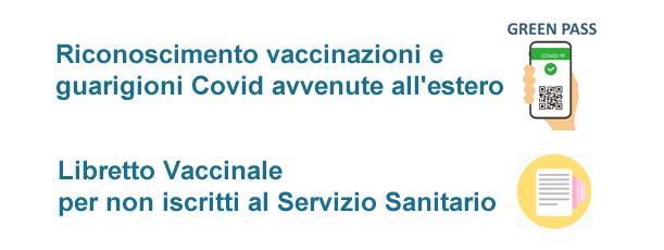 Riconoscimento vaccinazioni e guarigioni Covid estero. Certificati vaccinali non iscritti SSN.